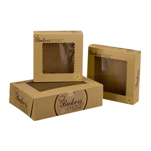 Bakery boxes wholesale manufactured with food grade technology, help in making the outlook radiant and inside secure for products.