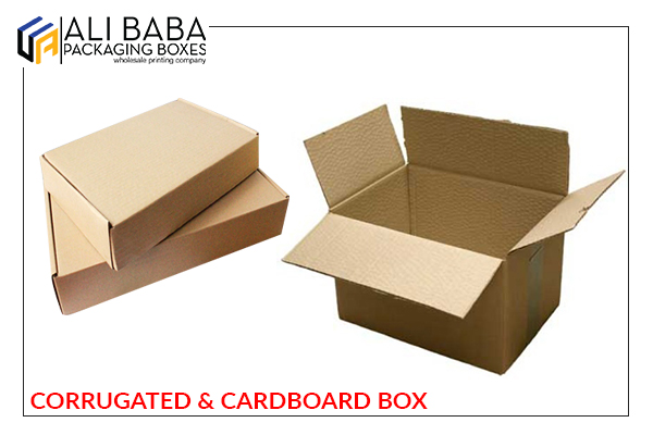 Corrugated and cardboard box