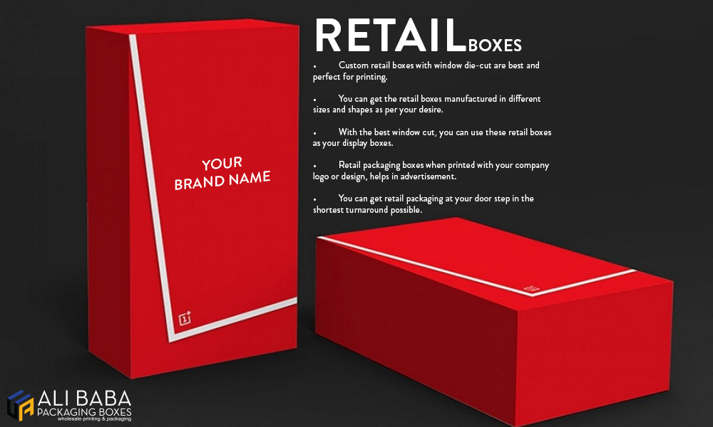 Types and advantages of using custom retail boxes.