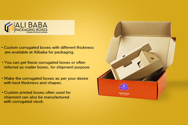 corrugated boxes with perfect die cuts and structure.